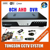 New Products BEST 8CH AHD DVR 720P / 960P Analog HD CCTV Camera Network 8 Channel NVR Multilanguage Support 3G Wifi HDMI