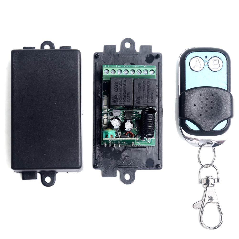 DC 12V 2CH Channel Wireless RF Transmitter Receiver Remote Control Switch Transmitter Receiver(China (Mainland))