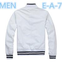 E_   A  _  7  Men classic  Double Zipper pocket Casual Sport jacket/long sleeve windbreaker Formal fashion print letter Jacket
