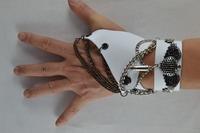 free shipping (min order10USD) new design fashion cool wind punk bracelet /gloves set