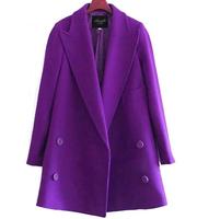 2015 plus size clothing fashion woolen outerwear female medium-long woolen overcoat winter coat women
