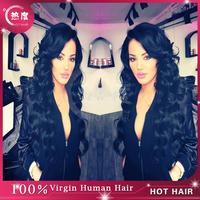 6A Grade Peruvian Virgin Human Hair Wigs Natural Black Full Lace Human Hair Wigs/Lace Front Wigs