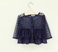 2014 Popular Children Girls Clothing Medium-large Child Lace Cape Waistcoat  Sun Protection Girls Kids Clothes
