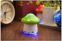 2015 new arrival,free shipping,Unique Mushroom Portable Speaker, Mini Speaker Colorful, creative speakers, U disk TF card