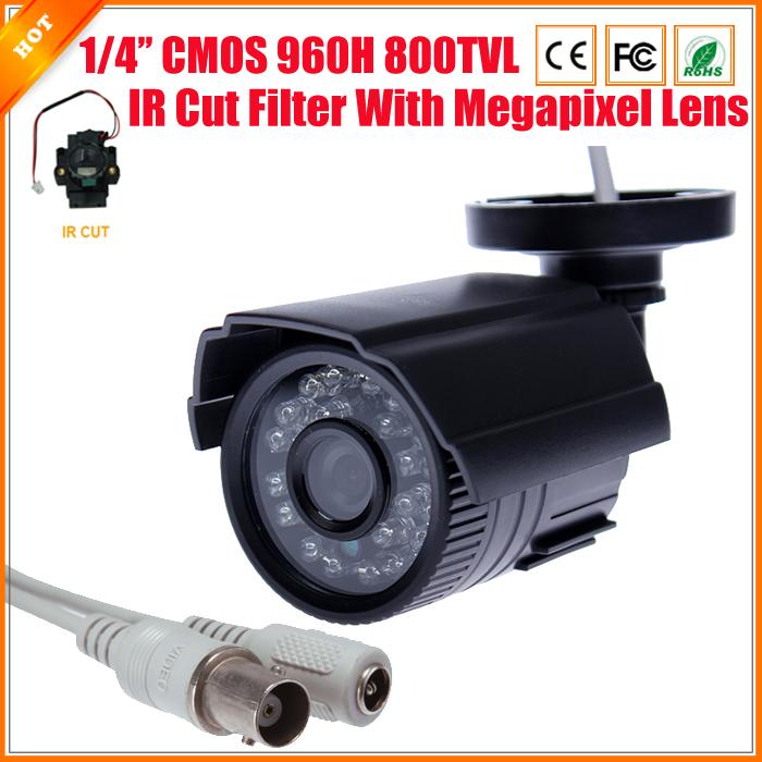 High Quality CCTV Camera 800TVL IR Cut Filter 24 Hour Day/Night Vision Video Outdoor Waterproof IR Bullet Surveillance Camera(China (Mainland))