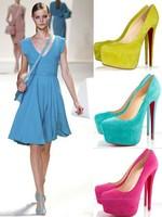 red sole pumps women high heel suede Brand pumps thin heel shoes women genuine leather pumps plus size 41 women shoes
