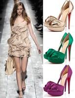 Red sole sandals women pumps high heels shoes thin heel pumps silk pumps for women plus size women shoes high heel sandals
