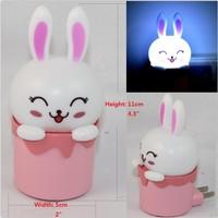 Mini Lucky Rabbit LED Photoreceptor NightLight Cartoon Bedroom Sleeping Home Decoration Sensor Night Lights Night Light Lamp