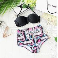 European and American big sexy bikini beach casual dress waist retro sexy swimsuit