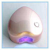 3 Colors 0.5W Portable Nail Art LED Lamp Manicure Gel Curing Dryer Mini Portable Heart Shaped Nail Art Dryer