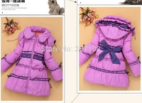 Retail 1 Pc New 2014 Girl's Down & Parka Coats Children Medium-Long Duck Outerwear Baby Girls Winter Coat Jackets CC1511
