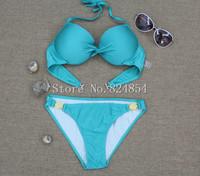European and American big metal decorative casual dress sexy beach bikini swimsuit