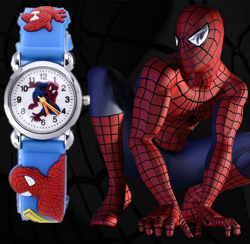 2015 New Child cartoon watch Fashion Spider man boy Watches High Quality Girls Wristwatch Hot Sale Cute Jelly Colorful Clock(China (Mainland))