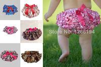 Chiffon 2T-8T Unisex Baby Ruffle Shorts Loose Mid Baby Ruffle Bloomers Print Lovely Bow Ruffle Bloomers Drawstring