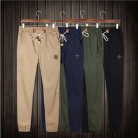 Plus Size Drawstring Men Pants Fit Cotton Jogger Pants Mid Rise Leisure Men's Trousers Men Pants M-4XL CX852437