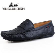 Nouveau 2015 hommes mocassins en cuir véritable occasionnels conduite chaussures printemps automne Massage mocassin Zapatos Hombre noir glisser sur grande taille(China (Mainland))