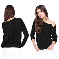 S-L European and American Style Fashion Long-sleeved Side Zipper Women Lady Sweatershirts Female T-Shirts EJ852431