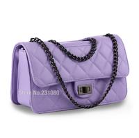 6-Colors Optional Fashion Woman Handbag Quilted Genuine Leather Diagonal Package Chain Handbag Small Fragrant Shoulder bag