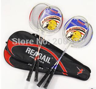 Popular Training of Badminton Racket Wholesale Aluminum Alloy Badminton Pats Two Pieces(China (Mainland))