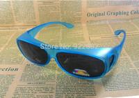 UnisexMens Womens Safety Sunglasses FIT OVER PRESCRIPTION GLASSES Fitover *Choice*-Mattte Flue Frame Gray Llens