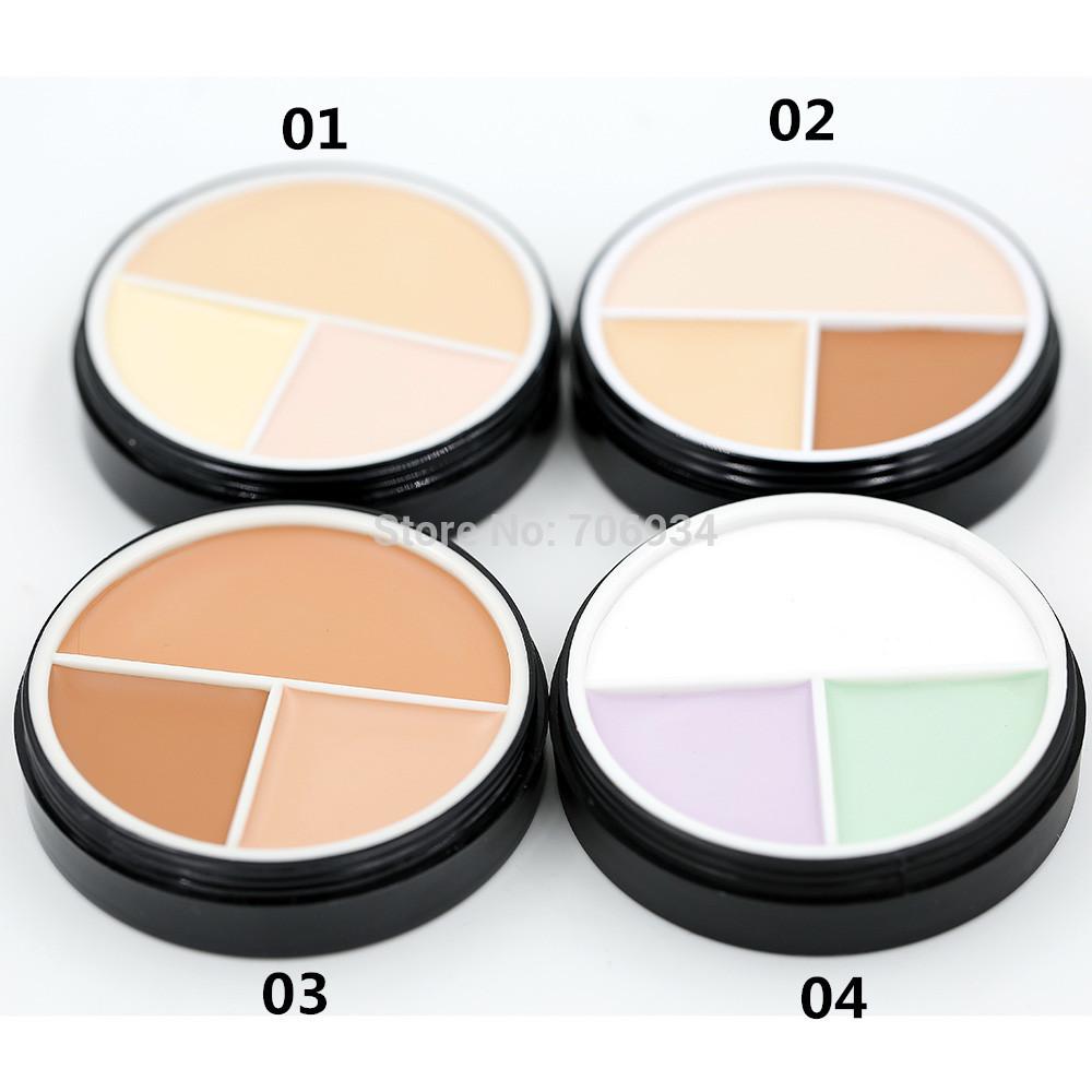 Concealer Palette Makeup Contour Professional 1pcs 3colors Camouflage Makeup Highlighter Concealer(China (Mainland))