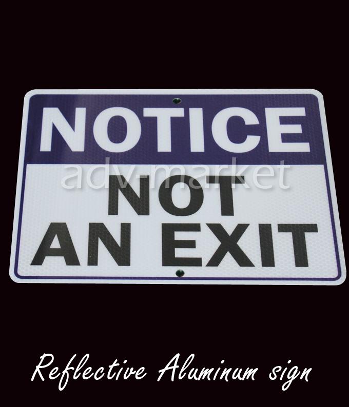 "FAS099 Notice Not An Exit Direction Indicator Security Reflective Aluminum Metal Sign 9""x12"" + Free Ship(China (Mainland))"