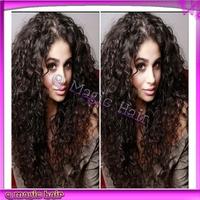 26inch 150% Density U Part Wig Fashion Afro Kinky Curly Grade 6A Unprocessed Hair Brazilian Virgin U Part Wig Free Shipping