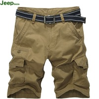 Men outdoor leisure clothes washing cotton shorts 5 more casual Short pants pocket