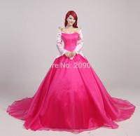 Sleeping Beauty Aurora Princess Women's Cosplay Custume Dress Briar Rose Custom Made For Adult Or Children
