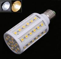 Free shipping 8W E14 E27 60 leds 5050 SMD 220V/240V Corn Bulb Light  LED Lighting Cool White/Warm White