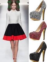 New arrival fashion pumps women high heels shoes woman high thin heel pumps shoes 14cm new fashion women shoes