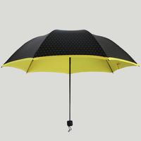 Creative Vinyl Parasol Umbrella Rain Windproof  Folding Umbrella Korean Style Fashion