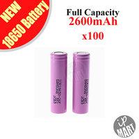 FREE SHIPPING! Original Samsung 18650 Battery ICR18650-26F 2600mAh  3.7V Li-ion Rechargeable Battery 100pcs/lot