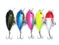 4pcs brand fishing lures hooks 2014 chubby crankbaits Deep swim hard bait 7CM 11G artificial baits minnow fishing wobbler D8010