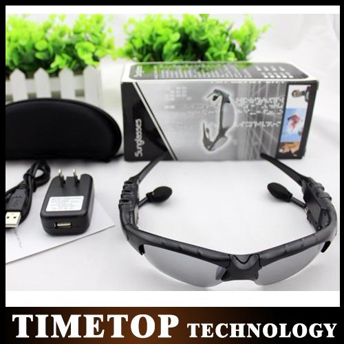 50%Shipping 10PCS HIFI Bluetooth Sunglasses Headset Wireless Earphone Headphone bluetooth earphone wireless headphone(China (Mainland))