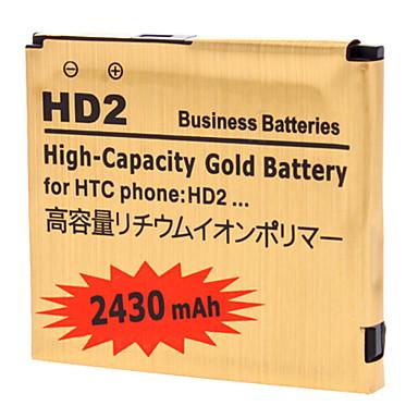 2430mah pda bateria para htc hd2