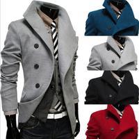 High quality Fashion Men's Dust Coat mens overcoat winter men's trench coat long trench coats for men 4 Colors M-XXL#ZFC612