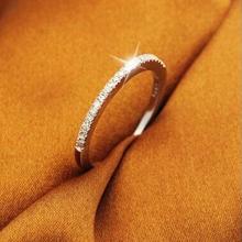 Wedding Band Set 925 Sterling Silver CZ Diamond Jewelry Purple Love Rings for Women Bague Zircon