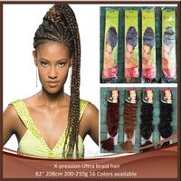 """X-pression xpression hair, ULTRA BRAID ,jumbo braid-84"""" 210G hair extension , braiding hair,mixed color, Free Shipping"""