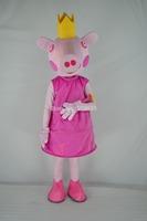 Hot sell Adult Peppa Pig Mascot Costume, Adult George Pig Cartoon Costume,Pig Mascot Adult Costume Free Shipping