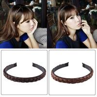 Wholesales Korean Fashion Style Wig Braid Headband Hairband Hair Hlip Hair Accessories Free Shipping