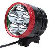 Free Shipping Bycicle Light luz bicicleta 6000Lumen Cree XM-L T6 Bike light Cycling Light With Free 100000 mAh Battery Pack