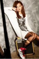 2014 women's t-shirt tiger print batwing sleeve loose long cotton 100% design  A13082