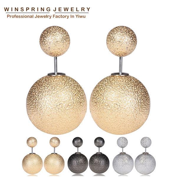 2015 New Design Wrinkle Korea Earrings Women