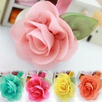 2015 Sale Acessorios Para Cabelo New Korean Girls Hair Accessories Hairpin Princess Chiffon Flowers Baby Headdress free Shipping