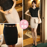 Women Sexy Skirts Professional package buttocks cultivate one's morality skirt in skirts female Size:S M L XL 87% cotton