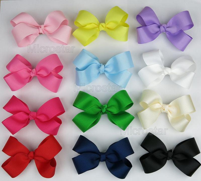 2015 baby girl hair bows clips Boutique hair pin grosgrain ribbon bows hairpins girl kids hair accessories Free/Drop Shipping(China (Mainland))