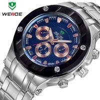 New 2015 brand WEIDE men watches fashion quartz watch 30m waterproof relogio stainless steel Japan movement male clock masculino