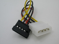 WHOLESALE 1pcs/lot High Quality 4P IDE to 15P Serial SATA Power Adapter Hard Drive Cable