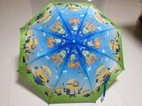 2015 New Arrival Children Cartoon Umbrella Kid's Umbrella Lovely Pattern  student's Waterproof Minioned boy's umbrella